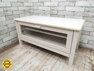 モモナチュラル momo natural シエル CIELE テレビ台 AVボード W90cm パイン材 ホワイト ●