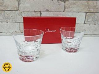 バカラ Baccarat ルチア Lucia ロックグラス ペア 箱付 2客セット クリスタル ガラス ●