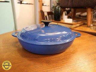 ルクルーゼ LE CREUSET ビュッフェ キャセロール 26cm ブルー 両手鍋 蓋付き ◎