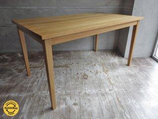 無印良品 MUJI タモ材 無垢 ダイニングテーブル 幅140cm ♪