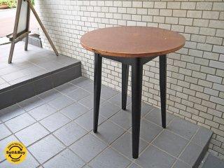 UKビンテージ E.A. clare & son 真鍮トップ ペインテッド カフェテーブル ■