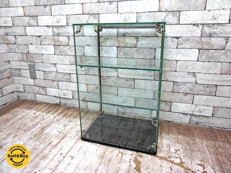 ビンテージ vintage ガラス コレクションケース ショーケース ロイズアンティークス購入品 ●