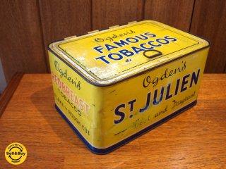 ビンテージ ショップディスプレイ タバコボックス缶 Ogdens Shop Display tabaccos Tin ★