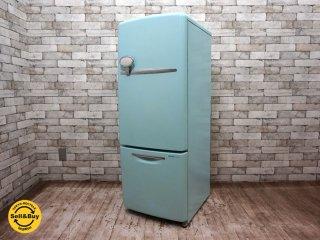 ナショナル National ウィル WiLL 冷蔵庫 162L ターコイズ カラー 2003年製 ●