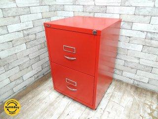ビスレー BISLEY ベーシック BASIC Fシリーズ 2F ファイリング デスクキャビネット レッド 赤 英国製 ●