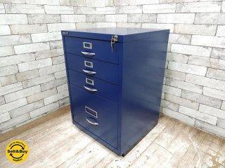 ビスレー BISLEY ベーシック BASIC Fシリーズ 1F3 ファイリング デスクキャビネット ブルー 青 英国製 ●