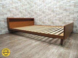ウニコ unico アルベロ ALBERO ベッドフレーム チーク材 W145cm ダブルサイズ フレームのみ ●