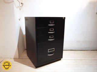 ビスレー BISLEY ベーシック BASIC Fシリーズ 1F3 ファイリング デスクキャビネット ブラック 黒 英国製 ★