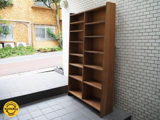 ジャパンビンテージ 木味 ブックシェルフ ディスプレイラック 昭和レトロ クラフト家具 ■