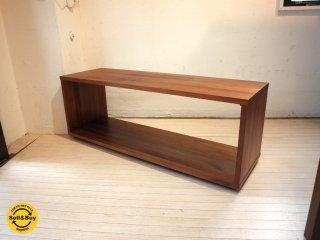 無印良品 MUJI ウォールナット無垢材 テーブルベンチ ローボード 定価58900円 ★