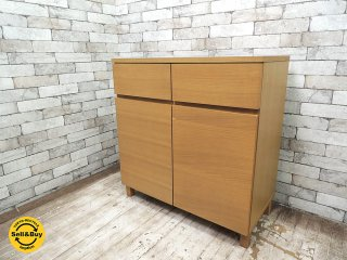 無印良品 MUJI オーク材 キャビネット 木製扉 シンプルデザイン 北米産 ホワイトオーク使用  ●