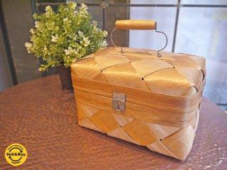 白樺 ランチボックス 箱 蓋つき ハンドメイド 北欧 ■