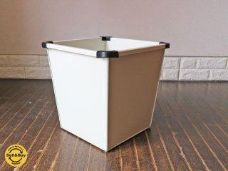ビスレー BISLEY スチール製 ダストボックス マガジンラック ゴミ箱 ホワイト 廃番  英国 ◎