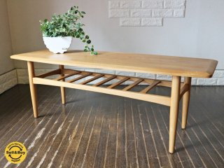 モモナチュラル momonatural  ベント VENT タモ材 コーヒーテーブル ローテーブル w121cm ◎
