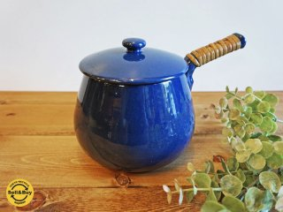 北欧ビンテージ 蓋付き 片手鍋 スウェーデン ●
