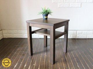無印良品 MUJI タモ材 サイドテーブル ナイトテーブル ブラウン ◎