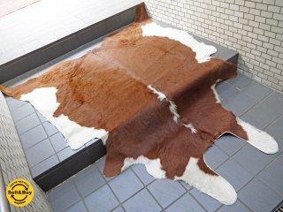 大判 カウラグ 牛革 カーペット ラグマット 毛皮 ハラコ 敷物 ■