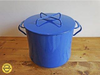 ダンスク dansk コベンスタイル Kobenstyle 両手深鍋 ブルー ビンテージ品 ●