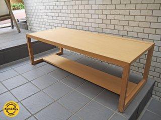 エスト センターテーブル リビングローテーブル ナラ材 天然木 ナチュラルモダン ■