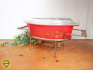オールドパイレックス old PYREX キャセロール deluxe buffet server スタンド付き 1961年製 ビンテージ ◎