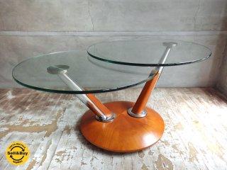 ロナルド シュミット Ronald Schmitt 可動式 ガラステーブル ♪