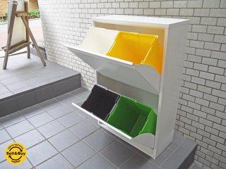 ドッタス DOTTUS ウエストビンキャビネット 4セパレーター トラッシュ缶 ダストボックス グッドデザイン賞 ■