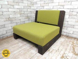 カギロイ 小泉誠デザイン CHOCOZAI 1pソファ 古材フレーム B ラウンジチェア 座椅子 クラフトチェア 和椅子 ●