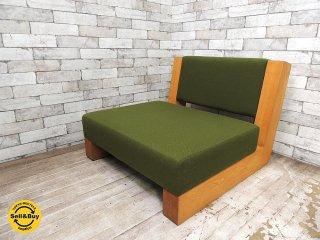 カギロイ 小泉誠デザイン CHOCOZAI 1pソファ 古材フレーム A ラウンジチェア 座椅子 クラフトチェア 和椅子 ●