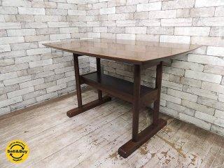 ウニコ unico スーク SUK ダイニングテーブル W115cm レトロデザイン カフェスタイル ●