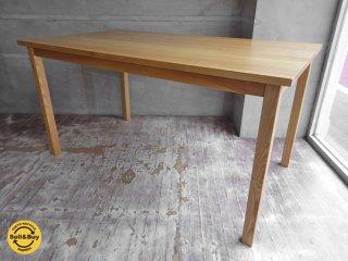無印良品 muji ダイニングテーブル タモ材 無垢 幅140cm ♪