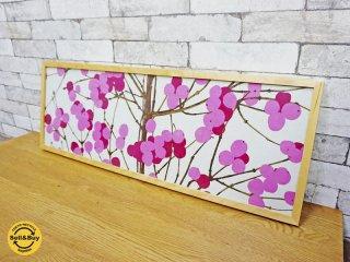 マリメッコ marimekko ルミマルヤ LUMIMARJA ファブリック パネル ピンク ●