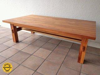ウニコ unico ブレス BREATH ローテーブル W1200 チーク無垢材 現行 ・ 人気シリーズ 参考価格:¥60,480- センターテーブル コーヒーテーブル リビングテーブル ◇