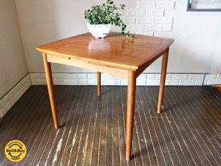 北欧 ヴィンテージ EX ダイニングテーブル デンマーク チーク × オーク テーブル ◎