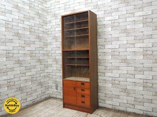 サカミ工芸 チーク材 食器棚 カップボード 飾り棚 キャビネット 書棚 ジャパンレトロ 北欧スタイル W60cm ●