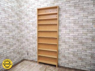 無印良品 MUJI タモ材 組み合わせて使える木製収納 本棚 キャビネット ●