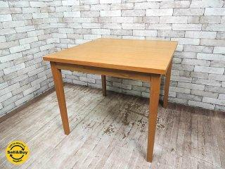 無印良品 MUJI タモ無垢材 ダイニングテーブル W85cm ナチュラル 廃番アイテム ●