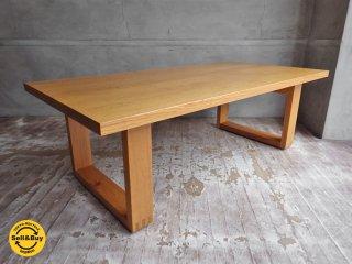 無印良品 MUJI 廃盤 オーク材 無垢材天板 リビングテーブル ローテーブル ♪