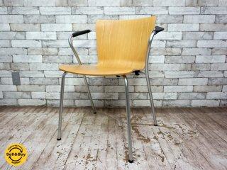 フリッツハンセン Fritz Hansen ヴィコデュオチェア VICODUO chair スタッキングチェア ビーチ材 ヴィコ・マジストレッティ Vico Magistretti デンマーク B ●