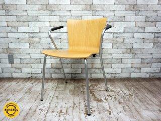 フリッツハンセン Fritz Hansen ヴィコデュオチェア VICODUO chair スタッキングチェア ビーチ材 ヴィコ・マジストレッティ Vico Magistretti デンマーク C ●