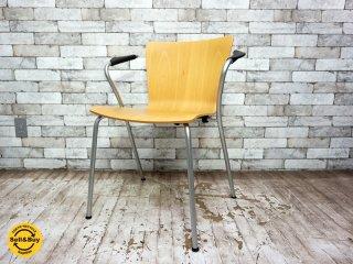 フリッツハンセン Fritz Hansen ヴィコデュオチェア VICODUO chair スタッキングチェア ビーチ材 ヴィコ・マジストレッティ Vico Magistretti デンマーク D ●