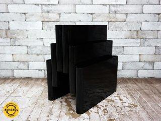 カルテル Kartell ポルタリビステ Portariviste マガジンラック 3段6列 ブラック 廃盤 ●