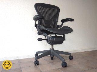 ハーマンミラー HermanMiller アーロンチェア Aeron Chair ポスチャーフィット フル装備 Aサイズ 定価¥18.6万〜 ( デスクチェア / オフィスチェア )状態良好 ◇