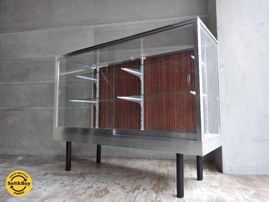 スウィッチ SWITCH ガラスショーケース Glass Show Case ロータイプ Low Type ウッドパネル 定価122,148円♪