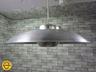 70S 北欧 ビンテージ スペースエイジ ペンダントライト アルミニウム ●