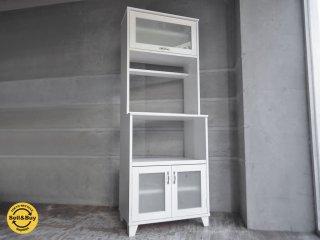 モモナチュラル Momo Natural ランド LAND カップボード  レンジボード 食器棚 ホワイト ♪