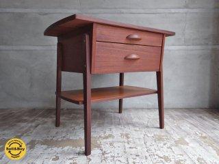 チーク材 ビンテージ teak wood vintage ナイトテーブル 引出し付き デンマーク ♪