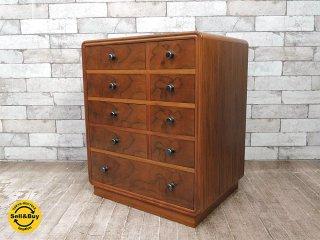 ジャパンビンテージ 木製 小引き出し 抽斗9杯 チェスト レトロ家具 古家具 和家具●