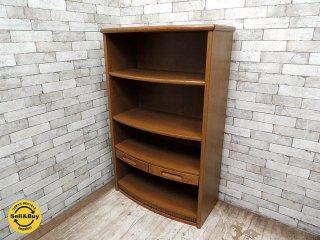 浜本工芸 楢材 ブックシェルフ ブックケース 書棚 本棚 シェルフ W85cm 高級 国産家具 ●