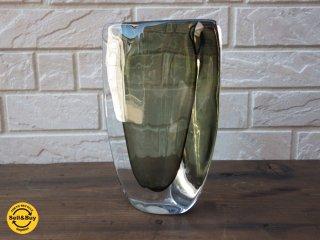 オレフォス Orrefors ニルス・ランドバーグ Nils Landberg フラワーベース 花瓶
