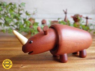 ロイヤルペット ROYALPET サイ RHINOCEROS 木製玩具 ♪
